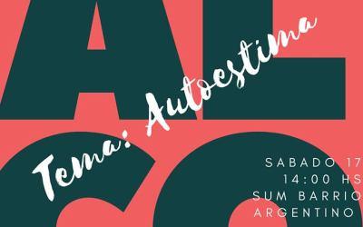 Charla sobre «autoestima» organizada por grupo ALCO en sum de barrio Argentino