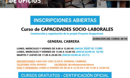 CEDER – Inscripciones abiertas para el curso de  «Capacidades socio-laborales»
