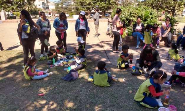 Niños de jardines realizaron actividades en el mes Rosa