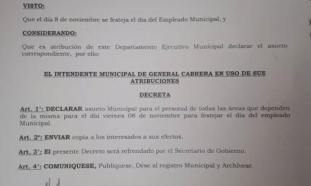 MUNICPALES -ESTE VIERNES DECRETADO ASUETO