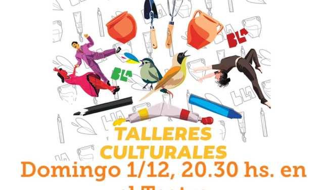 A partir de este domingo comienzan los cierres de talleres culturales