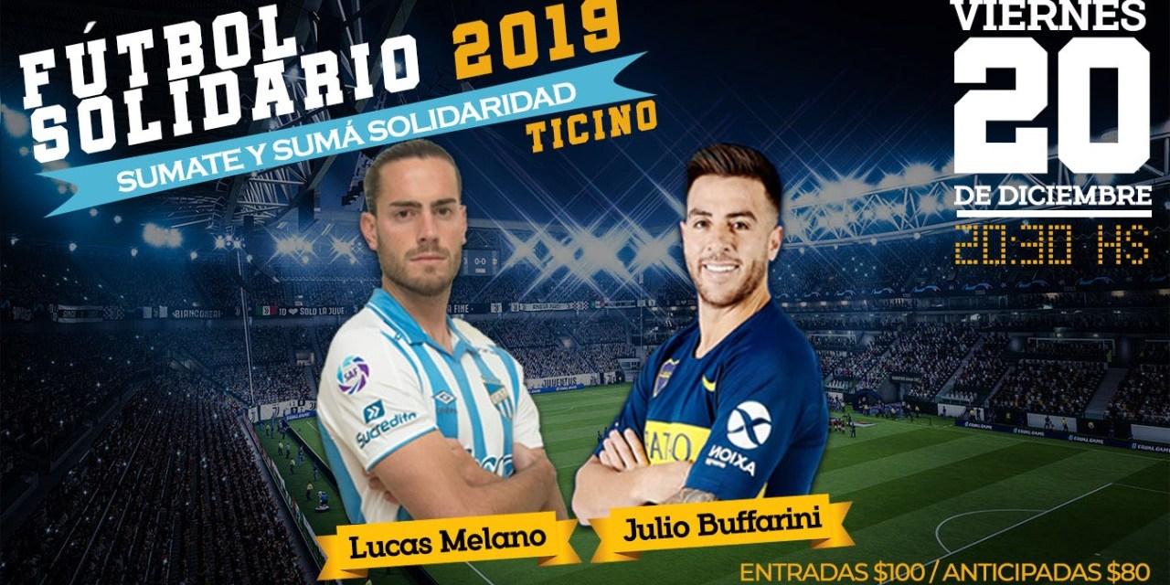 Fútbol solidario en la localidad de Ticino – Julito Buffarini participará