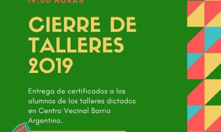 Cierre de talleres 2019 en el SUM de B° Argentino