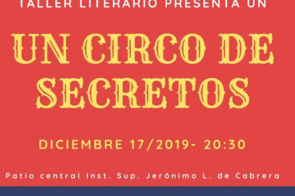 El taller literario presenta «Un circo de secretos»