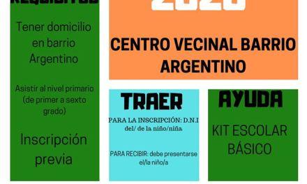La comisión del SUM de B° Argentino otorga Becas nivel primario, secundario y universitario