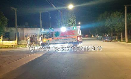 Accidente en calle Junín y Tucumán