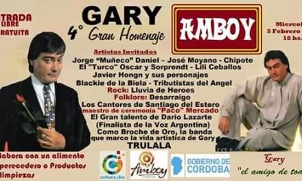 LILI CEBALLOS CONVOCADA EN EL HOMENAJE A GARY EN AMBOY