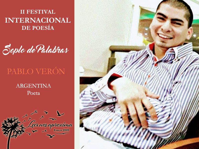 Pablo Verón en el Festival Internacional de Poesía de Embalse