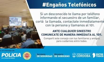 General Deheza – «Engaños telefónicos»: Tres llamadas con intento de estafa