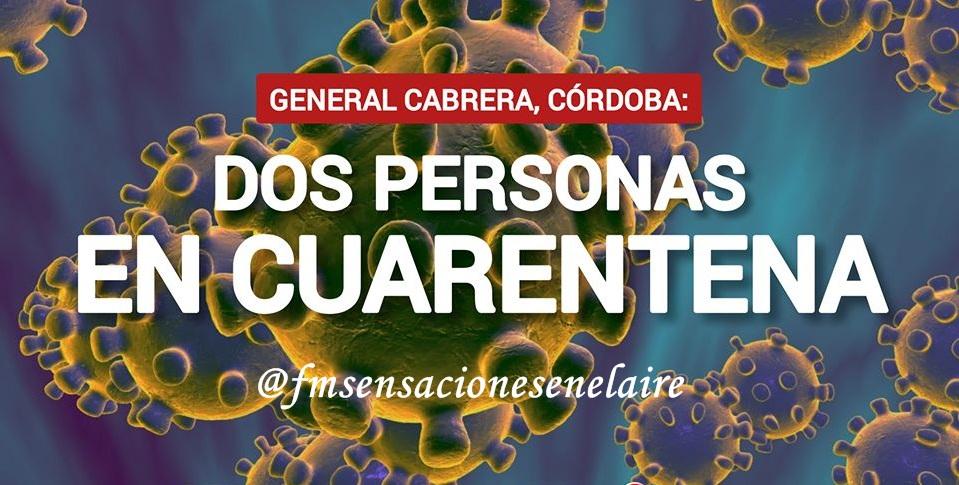 GENERAL CABRERA, CÓRDOBA: PARA PREVENIR:  CONFIRMADO: SE ACTIVO EL PROTOCOLO DE PREVENCIÓN EN CABRERA POR CORONAVIRUS