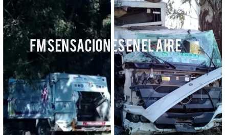 CAMIÓN RECOLECTOR DE RESIDUOS DE CABRERA, SUFRIÓ UN ACCIDENTE EN LAS HIGUERAS