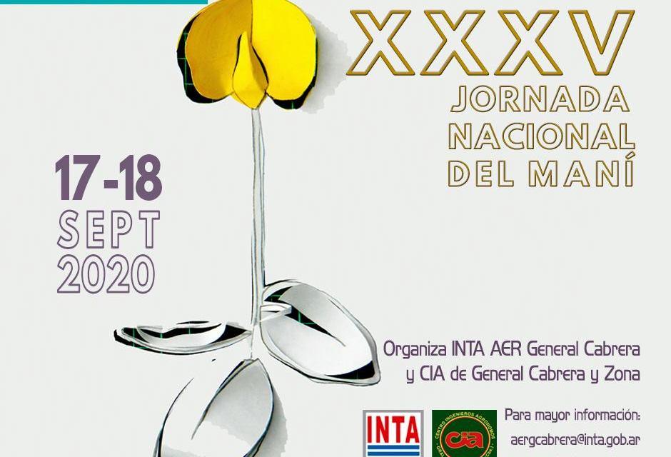 XXXV Jornada Nacional del Maní – 17 y 18 de Septiembre con Modalidad virtual