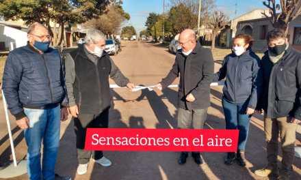 En un nuevo aniversario de la ciudad se inauguró la obra de cloacas en B° Centenario