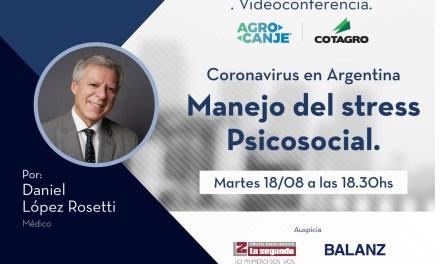 Cotagro invita a la videoconferencia con el Dr Lopez Rosetti