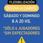 COE General Cabrera – Flexibilizaciones de finde semana