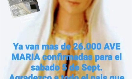 Convocan a rezar un millón de Ave María en medio de la pandemia