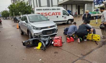 Gral. Deheza – Accidente entre un vehículo y una motocicleta