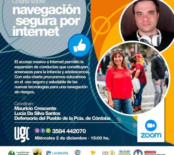 Charla sobre «Navegación segura por internet»
