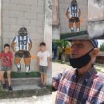 El Diez tiene su mural en Cabrera