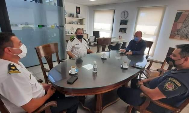 El Intendente Carasso recibió al Jefe de Zona, Crío. Marcelo Prado