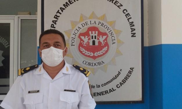 El Crío. Inspector Marcelo Prado visitó Gral. Cabrera