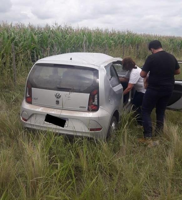 CABRERENSE ACCIDENTADA EN RUTA E-90.