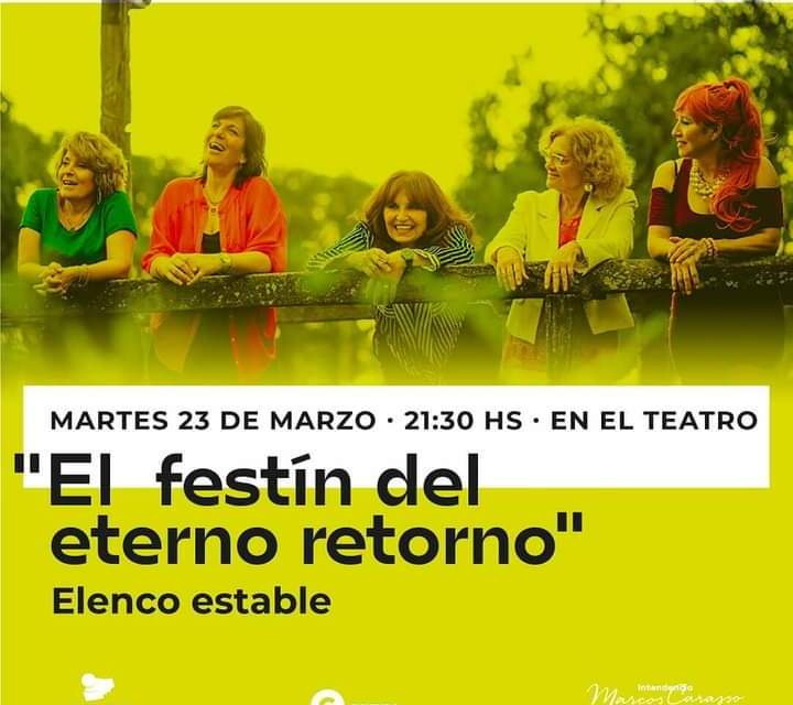 «El festín del eterno retorno», mañana martes en el TMSI