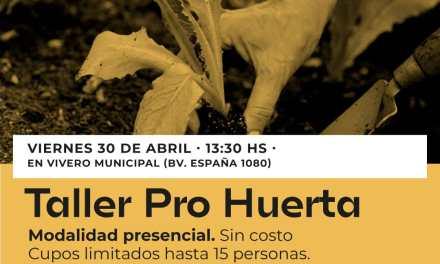 El viernes se realiza el primer Taller del Pro-Huerta