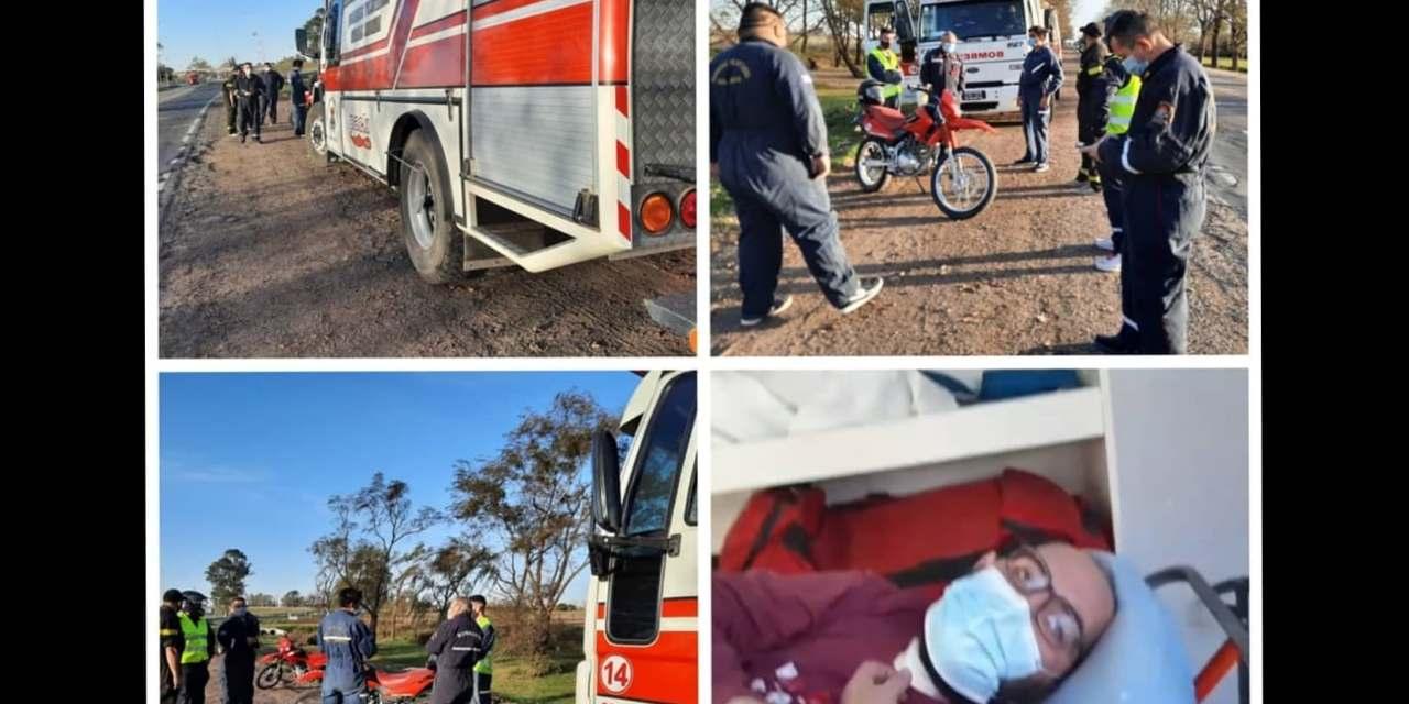 Cabrera-emotivo recibimiento a bombero recuperado de covid