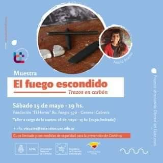 Fundación el Horno – «Muestra el fuego escondido, trazos en carbón «