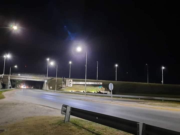 Inauguraron nuevas luminarias LED en el acceso sur a la ciudad