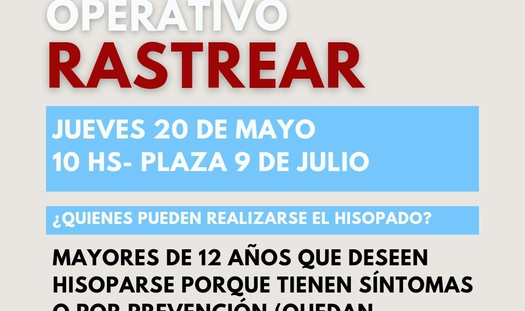 «Operativo rastrear»