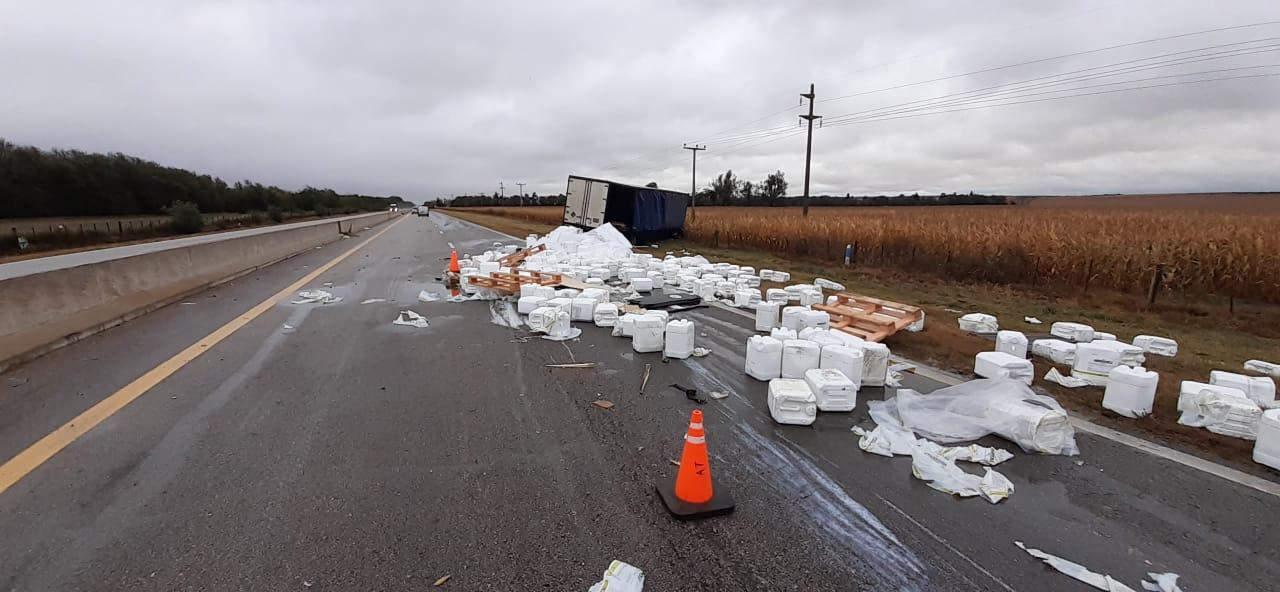 Alcira Gigena – Despiste de camión