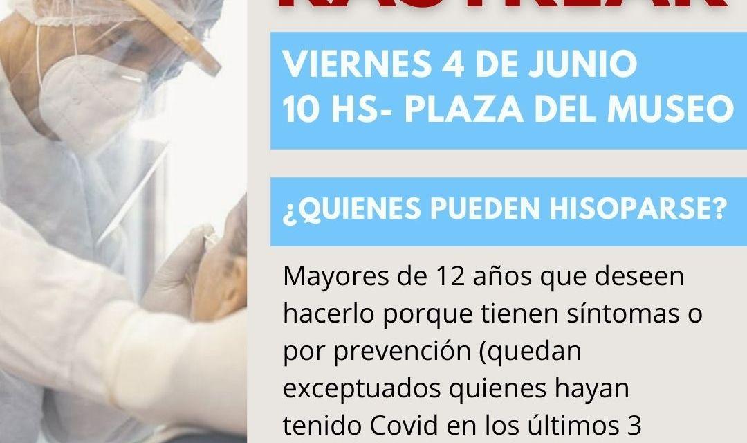 «6° Operativo rastrear» – este viernes en la plaza del Museo