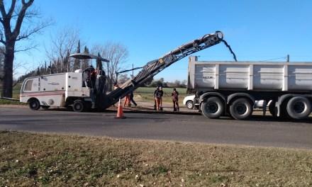 Comenzaron con los arreglos en Ruta 158, acceso sur a la ciudad