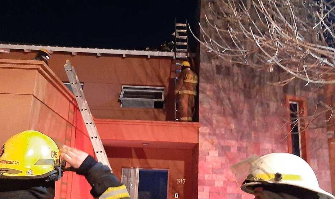 Principio de incendio en una vivienda en B° Las Lomitas
