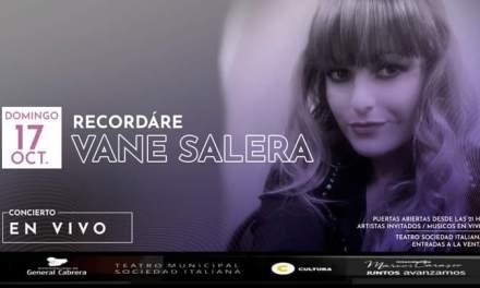 Vanesa Salera se presenta este domingo 17 de Octubre en el TMSI