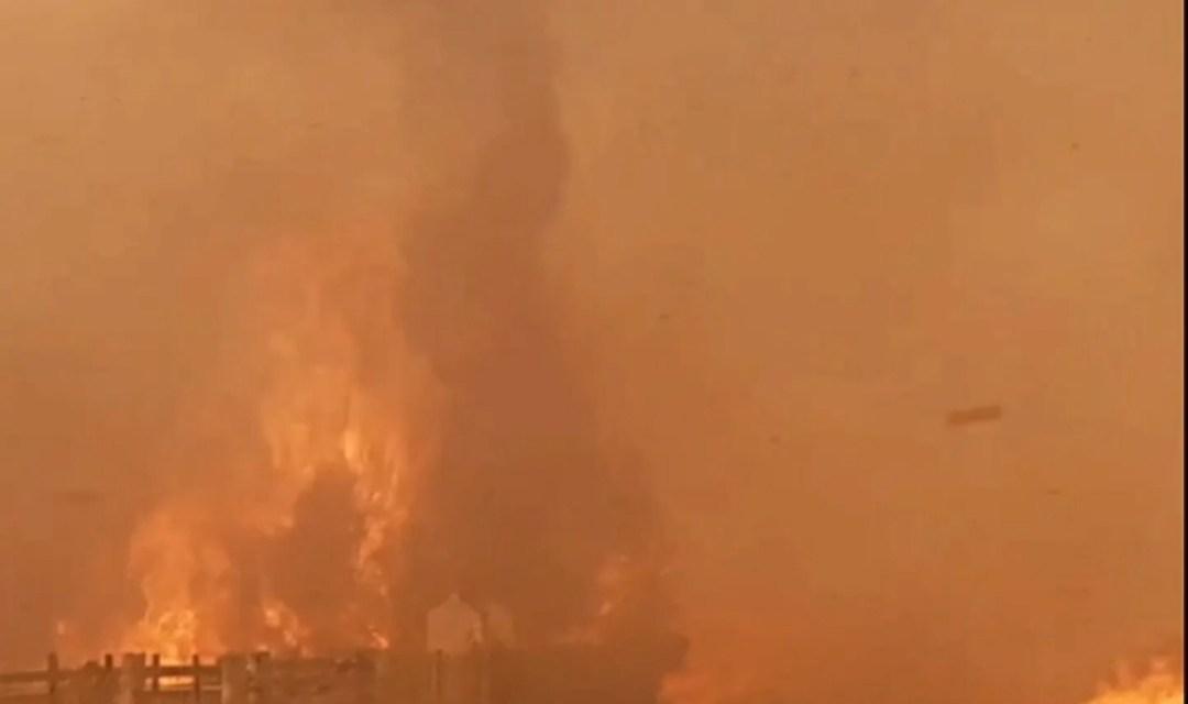 Incendio de gran magnitud en zona rural de Gigena