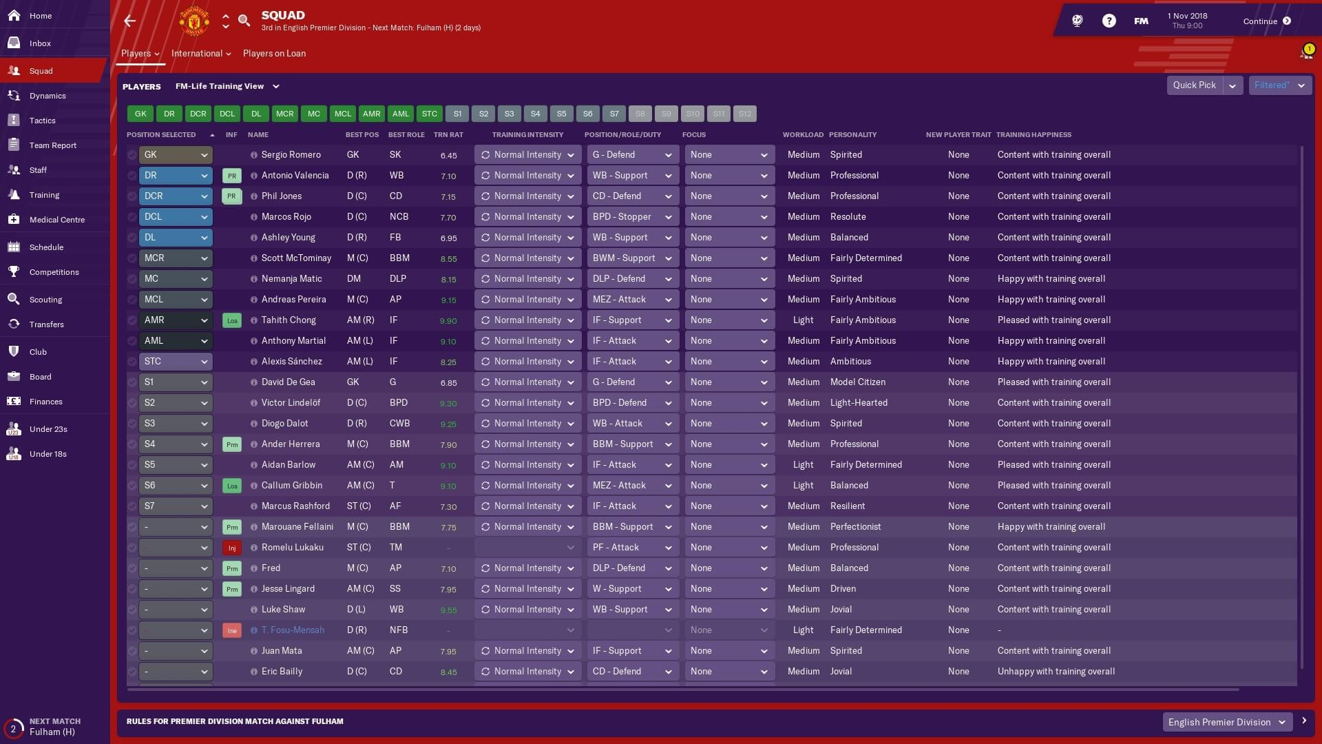 Training View for FM19 by FM-Life | FM Scout