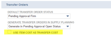 NetSuite, NetSuite 2016.2, Inventory Transfers, Transfer Orders, Approval, Default Status, Supply Planning, Item Cost as Transfer Cost