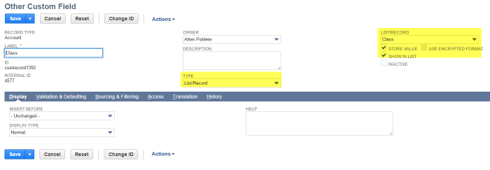 netsuite-customization-create-custom-field