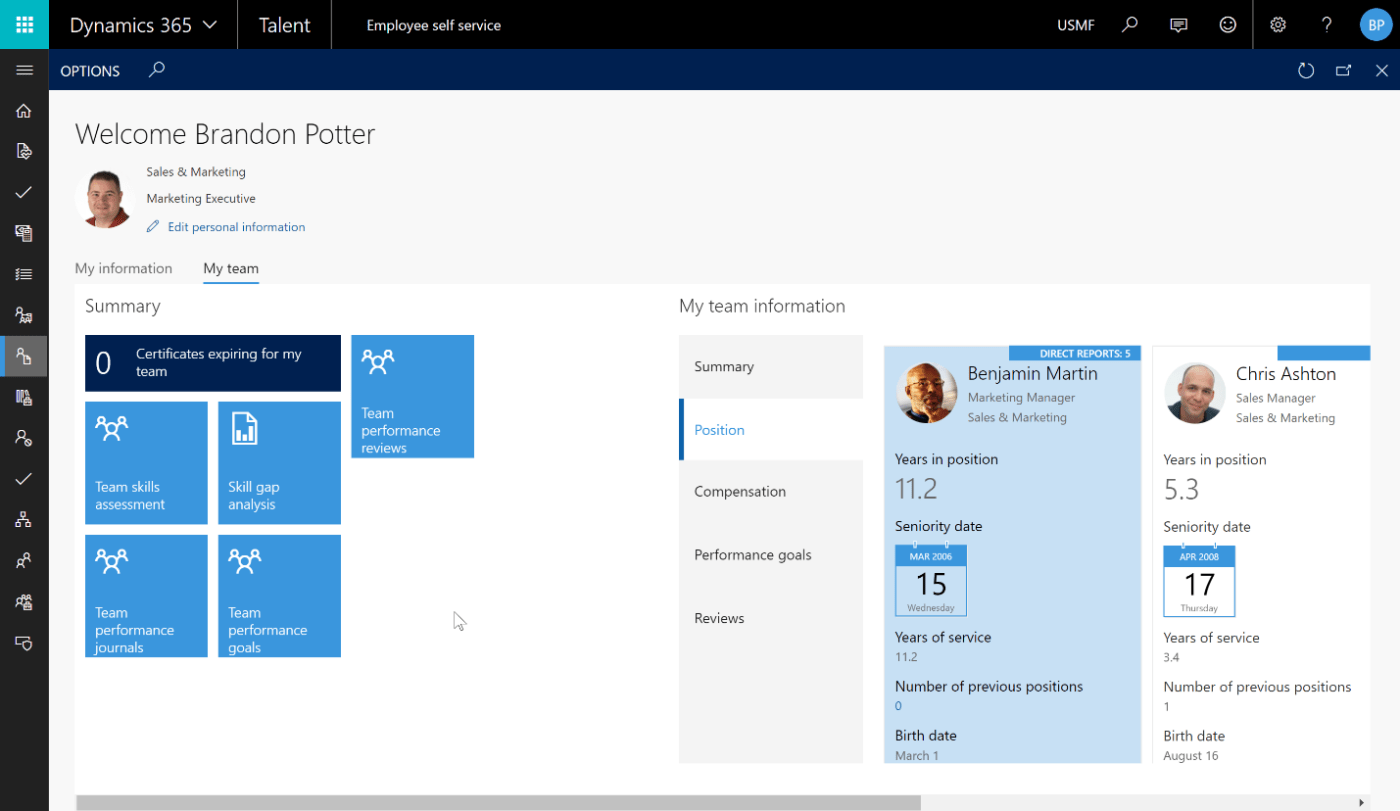 The Dynamics 365 July 2017 9.0 Update - Talent