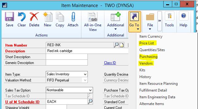 Item Card Units of Measure Design