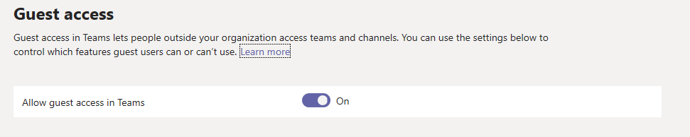 Microsoft Teams Guest Access image