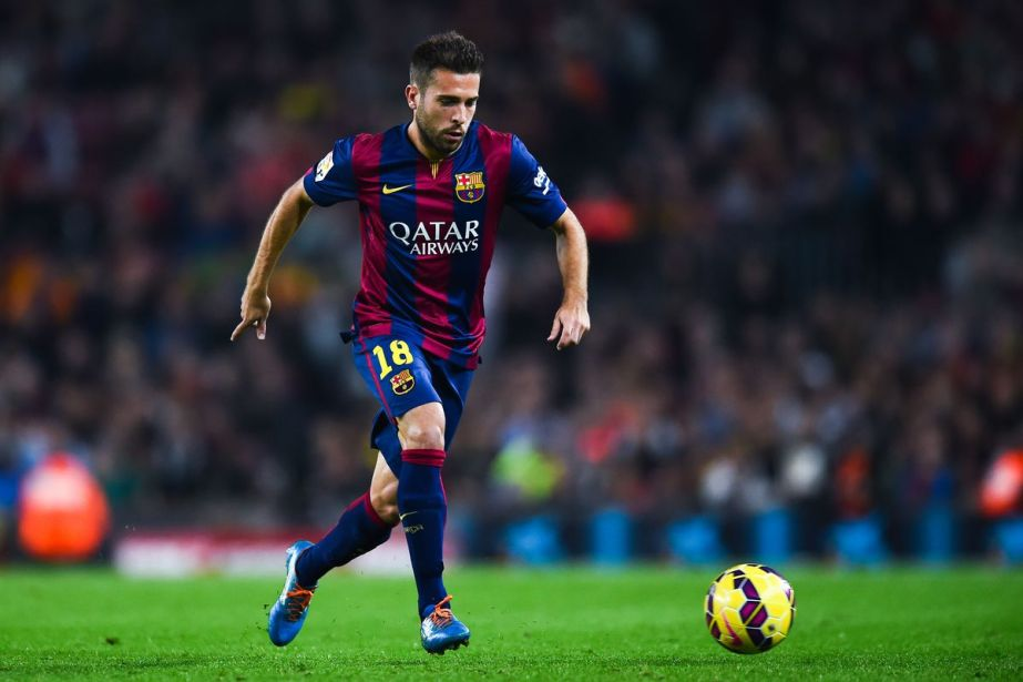 Jordi Alba in action for FC Barcelona