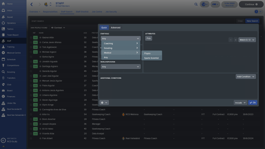FM Guide: Using the Football Manager Staff Search Section to
