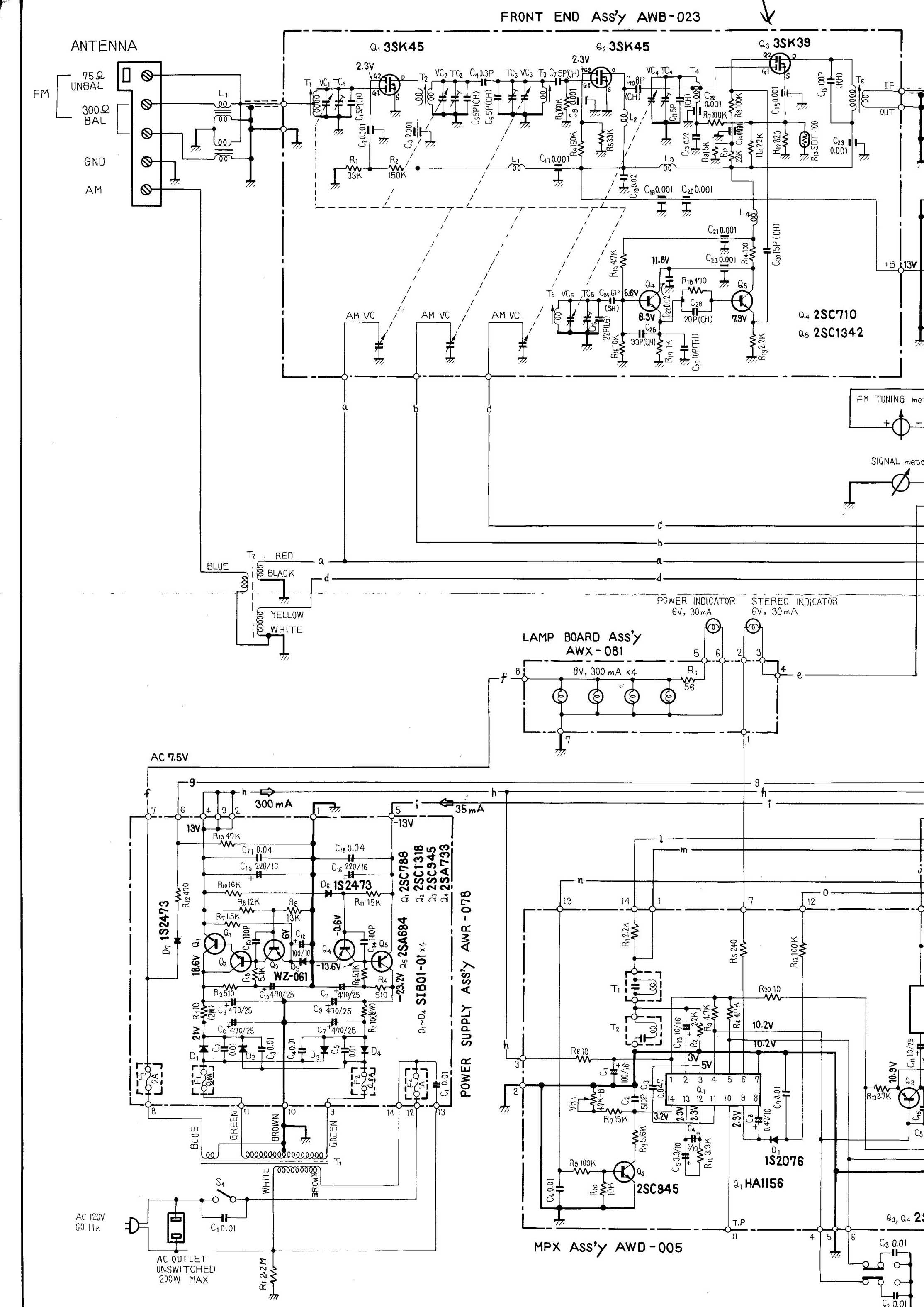 Schematic middle schematic right search ebay the tx 9500 has 5 gangs and 4 filters and is roughly equivalent in performance to a kenwood kt 7500