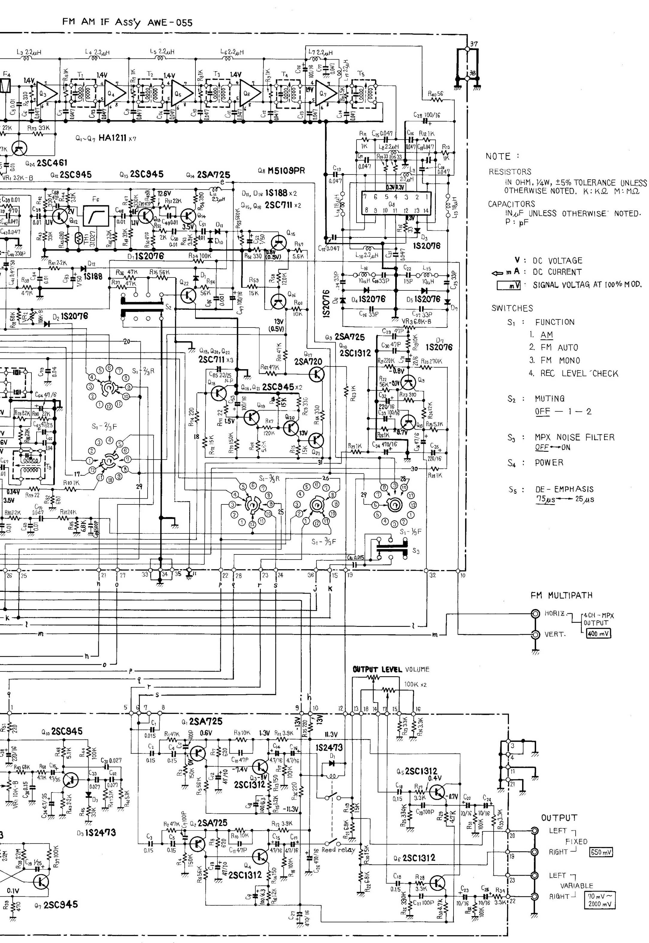 Wiring Diagram For A Technics Equalizer. Diagrams. Auto