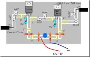 18Watt FM power amplifier (2SC1970, 1941,1942)  Power by