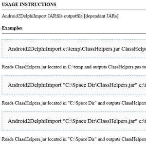 Android To Delphi Interface